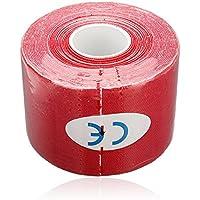 Sonline 1 Musculos Rollo Deportes Kinesiologia Cuidado de fitness atletico Salud cinta 5M * 5CM - Rojo