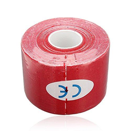 Sonline 1 Rolle Kinesiologie Sport Muskeln Zentrum Fitness Gesundheit Athletisch Band 5M * 5cm - rot -