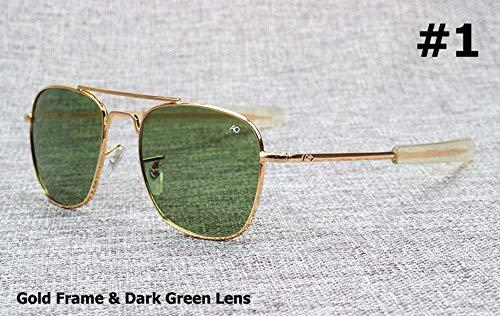 Sonnenbrille Army Military Pilot 54 Mm Sonnenbrille Marke American Optical Glas Sonnenbrille Gold Grün
