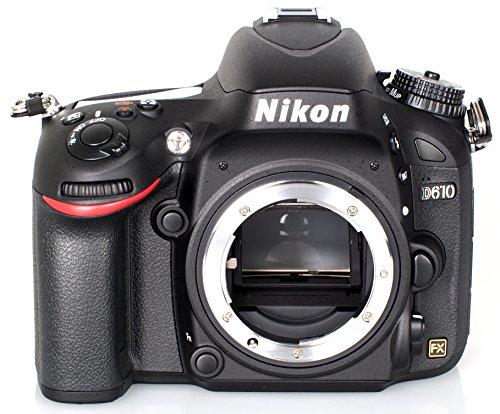 Nikon D610 SLR-Digitalkamera (24,3 Megapixel, 8,1 cm (3,2 Zoll) Display, Full HD, Superempfindliches AF-System) nur Gehäuse schwarz (Nikon D610 Kamera)