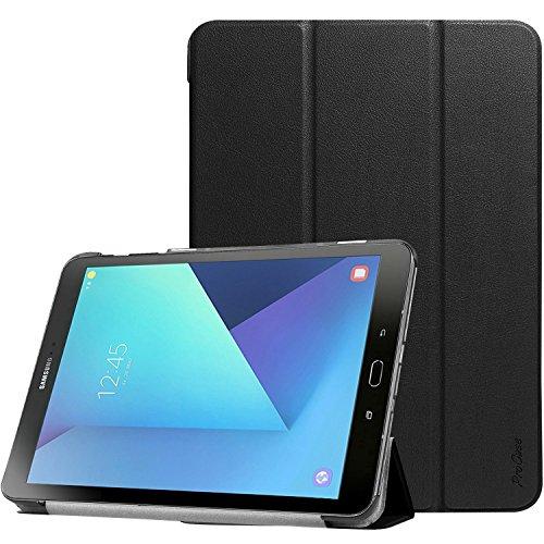 Galaxy Tab 9.7-S3, ProCase dünne intelligente Abdeckungs-Standplatz -Licht-harten Shell-Fall für Galaxy Tab S3 9,7-Zoll-Tablet-SM-T820 T825 (schwarz) (7-zoll-tablet-fällen)