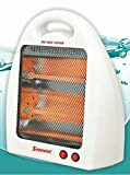 #5: Salute Warriors PREMIUM Room Halogen HEATER with 2 Heating Element & Settings || 2 Buttons for Power Selection 400W/800W || Automatic Trip-over Protection || Easy to carry || Protection Grill || Shockproof || 01