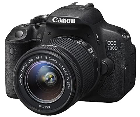 Canon EOS 700D 8596B029 Camera - (3 inch LCD Screen) This camera comes with a lens (EF-S 18-55mm f/3.5-5.6IS STM )