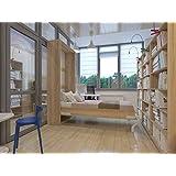 Cama plegable de 90cm vertical colorroble sonoma cama plegable & cama de pared SMARTBett con colchón de espuma fría 90x200 cm SMARTBett
