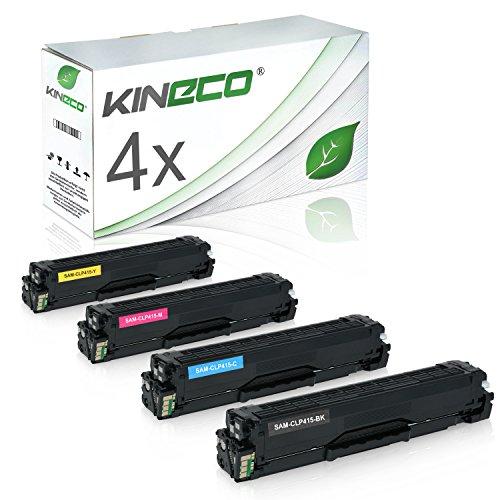 Preisvergleich Produktbild 4 Toner kompatibel zu Samsung CLP-415 CLP415 für Samsung Xpress C1810W/SEE, Xpress C1860FW/XEC, CLP-415N/XEC, CLP-415NW/XEG - Schwarz 2.500 Seiten, Color je 1.800 Seiten