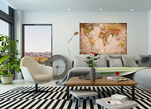 papier peint photo mappemonde motif vintage retro image murale xxl du mappemonde d coration. Black Bedroom Furniture Sets. Home Design Ideas