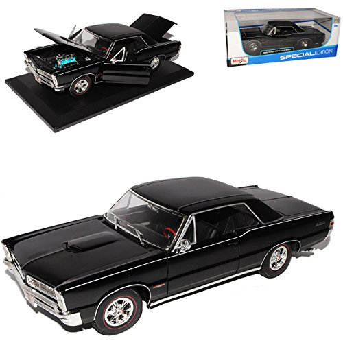 pontiac-gto-1965-coupe-hurst-edition-schwarz-1-18-maisto-modellauto-modell-auto