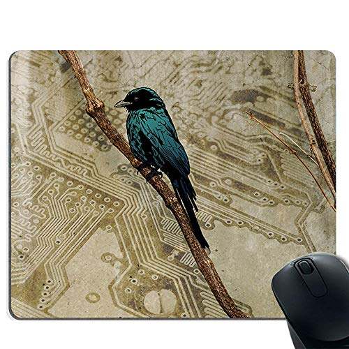 Mauspad Spiel Mauspad Gel-Gummi-PC, Computer und Laptop, glatte Oberfläche und rutschfeste Gummibasis, kompatibel mit Laser und optische Maus - Vogel auf dem Zweig -