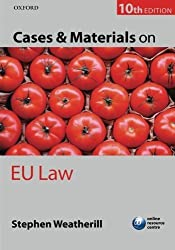 Cases and Materials on EU Law by Weatherill, Stephen (2012) Paperback