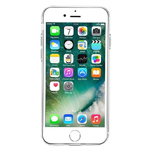 """wortek """"Baseus Edition Super Slim"""" High Quality TPU Schutzhülle iPhone 7 Plus Silikon Case mit Kameraschutz und Staubschutz Rose Gold Transparent"""