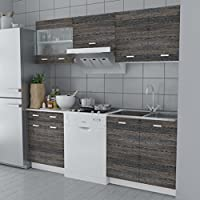 Lingjiushopping Set Küche Schränke Optik Wenge 5Stück 200cm Eigenschaften: Hängeelemente Pfannen preisvergleich bei billige-tabletten.eu