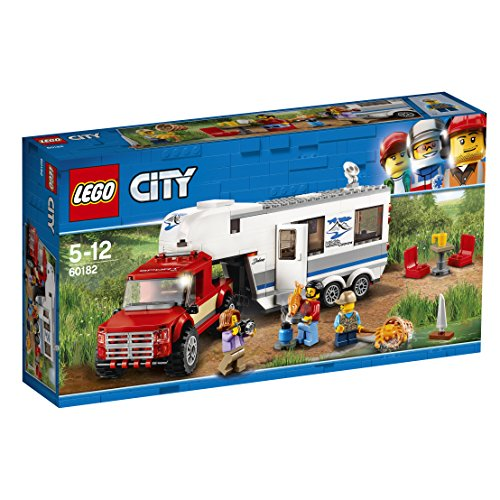 LEGO UK 60182 Pickup and Caravan Building Block Best Price and Cheapest