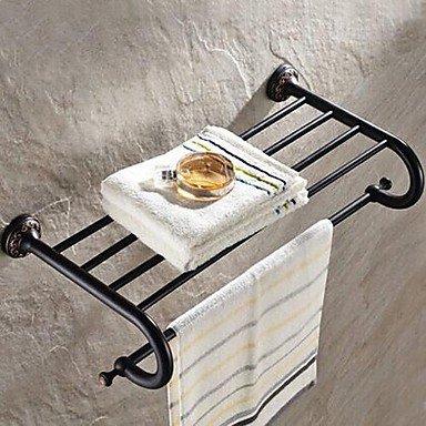 XAH@ olio strofinato bronzo bagno mensola con barra di tovagliolo