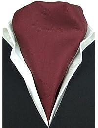 Burgundy Twill Fine Silk Cravat