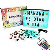 Light Box avec 165 Lettres et Emojis, Télécommande, USB - BONNYCO | Ç Inclus |...