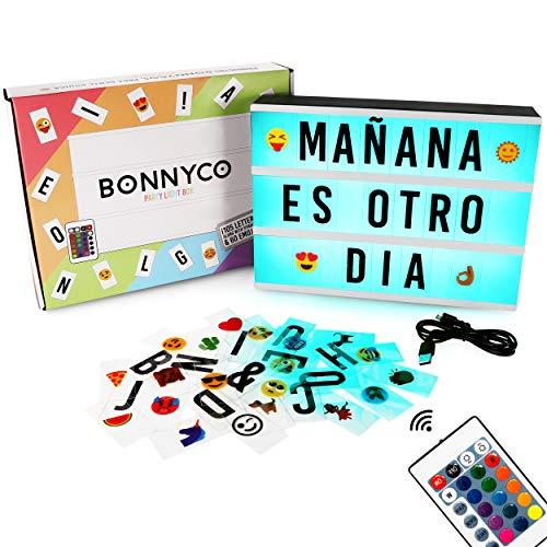 Caja de Luz A4 de Colores con 165 Letras y Emojis