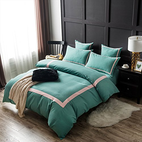 LongYu Herbst und Winter Momao Fünf-Sterne-Hotel Vierteiliges Set Heimtextilien Bettfutter Quilt Kissenbezug Quilt Polyester (Color : D, Size : 220*240CM)