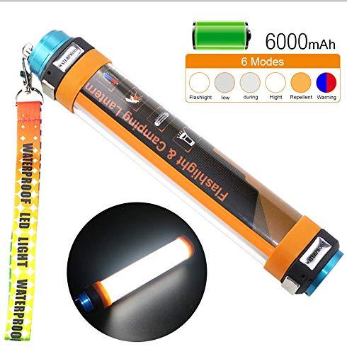 Wasserdichte Moskito Camping Licht, einfach zu tragen, kann es als mobile Stromversorgung eingesetzt werden, USB-Lade drei Arten von Beleuchtungshelligkeit, rote und blaue Lichter Notfall SOS blinken, -