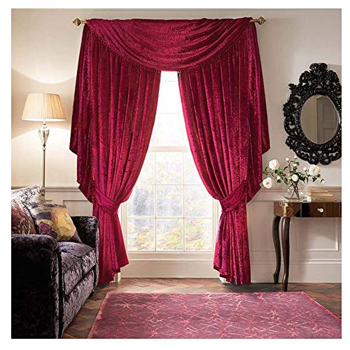 Laurence llewelyn-bowen luxury curtain call velvet-effect sciarpa mantovana - tende di 132 cm (non incluso)