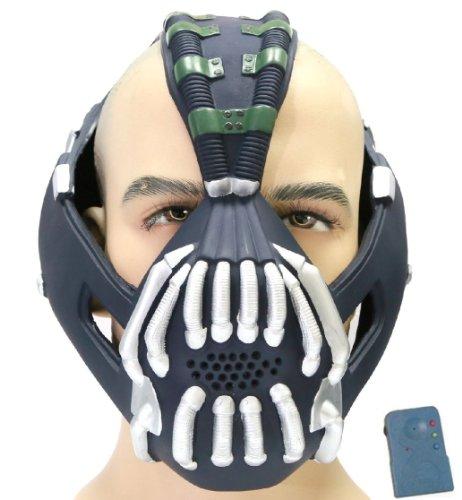 Halloween Maske mit Stimme Changer Cosplay Herren Erwachsene Gesicht Masken Kostüm Party (Bane Kostüm Design)