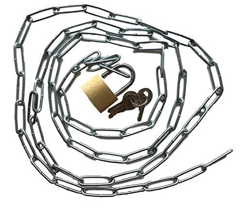 Cadena de acero con candado Set-Cadena robusta con candado + 3x