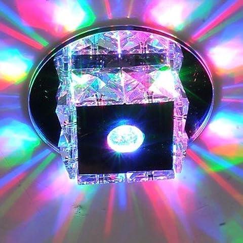 Per il montaggio a incasso di lusso Mini 3W LED a soffitto di cristallo pendente luci accese le spie , -Bianco caldo 90V-240V