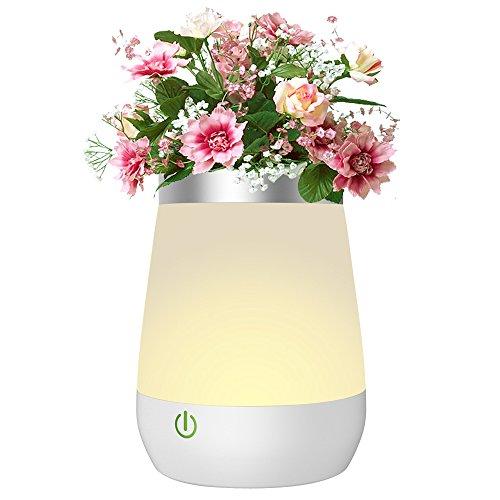 Tischlampe Nachttischlampe Nachtlicht VasenLampe 3 Modi Wasserdichte  Stimmugslicht Als Dekoration, 350 Ml Kapazität Tischleuchte USB Aufladbare  LED Lampe ...