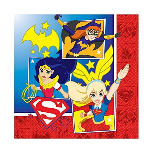 Party Paper Napkins - by DC Superhero Girls (Mädchen Superhero Party Supplies)