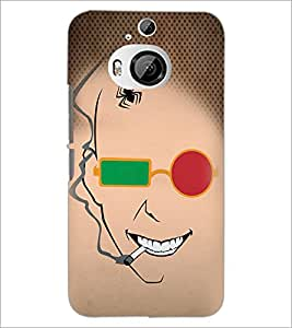 PrintDhaba Funny Sketch D-4489 Back Case Cover for HTC ONE M9 PLUS (Multi-Coloured)
