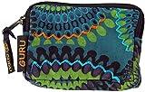 Guru-Shop Portefeuille `Ethno` en Différentes Couleurs, Mixte Adulte, Turquoise, Coton, 8x12 cm, Bourses en Tissu, Brocart de Chanvre