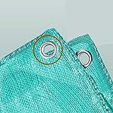 LIANGLIANG Telone Esterno Impermeabile Protezione Solare Protezione Avvolgibile Pieghevole con Occhiello in Metallo Plastica PE, 12 Misure (Colore : Green, Dimensioni : 9.7x11.7m)