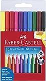 Faber-Castell 155310 - Fasermaler GRIP Colour Marker, 10er Etui