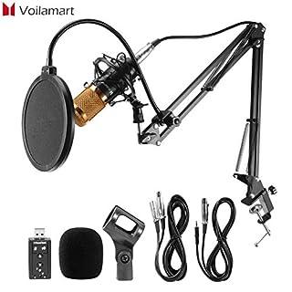 morocca Voilamart BM800 Kondensator Mikrofon Set Professionell Komplett Set für Studio