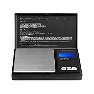 Pocket Scale- Ascher Portable Digital Scale with Back-lit LCD Display, Elite Digital Pocket Scale 200 x 0.01g, Mini scales 200g, Mini Digital Weighing Scale