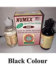Numax The National Store Numex Fast Drying Ink with Pad Softener 100 ml - Black
