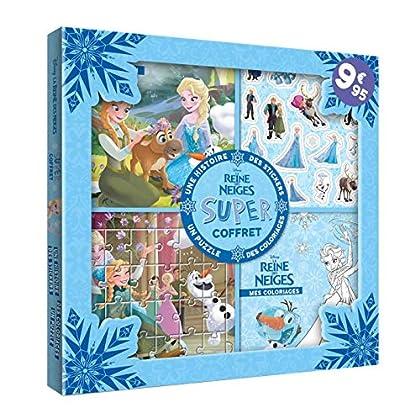 Disney - La Reine des Neiges - Super Coffret - Histoire, coloriages, stickers, puzzle