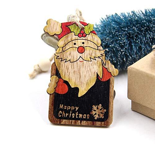 CAIDUD Weihnachtspuppe-Dekoration-Weihnachtsbaum-Anhänger-Mode-hölzerne Rotwild-Feier