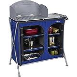 Berger Campingküche Küchenbox Pablo Premium, blau, Arbeitshöhe 97 cm, inkl. Windschutz und Tragetasche