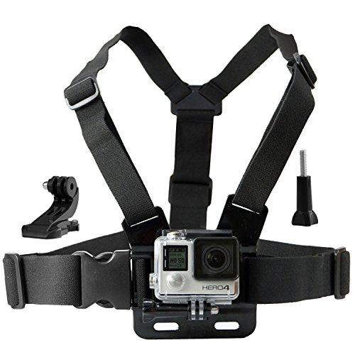 Harnais de Fixation Poitrine pour GoPro par CamKix - Sangle Poitrine Réglable Compatible avec Caméra GoPro Hero6, Hero5, Hero4, héros3+, Hero3, Hero2, et Hero
