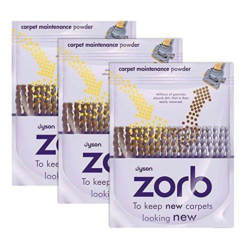 Dyson D'origine Zorb Tapis / tapis Nettoyage Poudre (Paquet de 3)