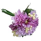TianranRT Künstliche Seide Fälschung Blumen Blatt Rose Blumen Hochzeit Blumenstrauß Party Zuhause Dekor (Lila)