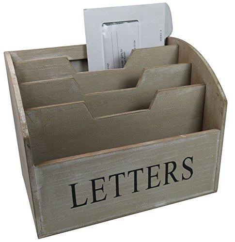 khevga Briefablage aus Holz - Landhaus Stil
