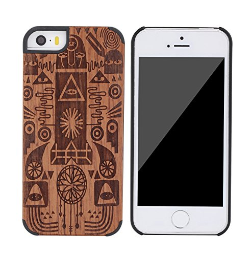 SunSmart Apple iPhone 5/5s Holz Case Schutzhülle Skin für iPhone 5 5s--14 06