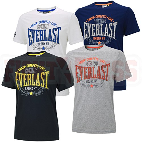 "Everlast T-Shirt ""Train, Compete, Live"" L grau"