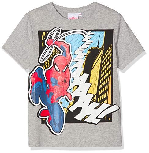 Spiderman Marvel yeeeeaaaaah' Camiseta, Gris (Grey Marl), 4-5 años para Niños