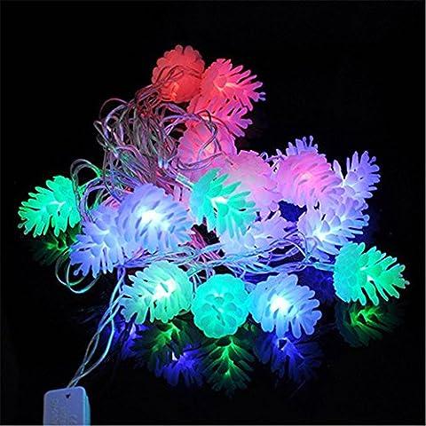 Christmas Lighting 4 m 20 LED Schneeflocke String Fairy Lichter Neujahr Xmas Party Hochzeit Garten Licht Lampe Girlande Dekoration Weihnachtsbeleuchtung