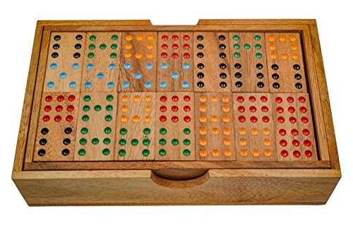 gespiel - Gesellschaftsspiel aus Holz mit 56 Spielsteinen ()