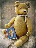 Artland Qualitätsbilder I Poster Kunstdruck Bilder 60 x 80 cm Kindermotive Spielzeuge Teddy Foto Braun B6NP Teddybär mit Sparbüchse