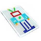 Papamsy 296 Stücke Kinder 3D Puzzle Spiele DIY Nagelperlen 7 Farbe Kreative Flashboard Spielzeug