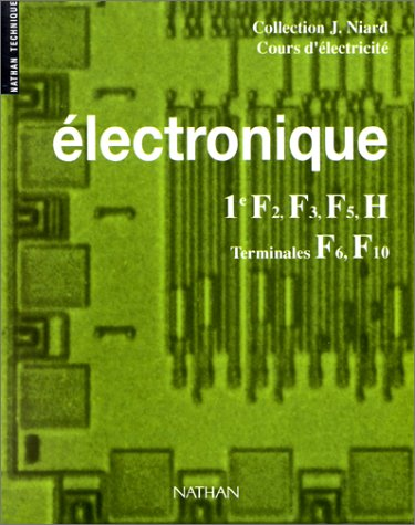 Electronique, 1re F2, F3, F5, H, Terminales F6, F10
